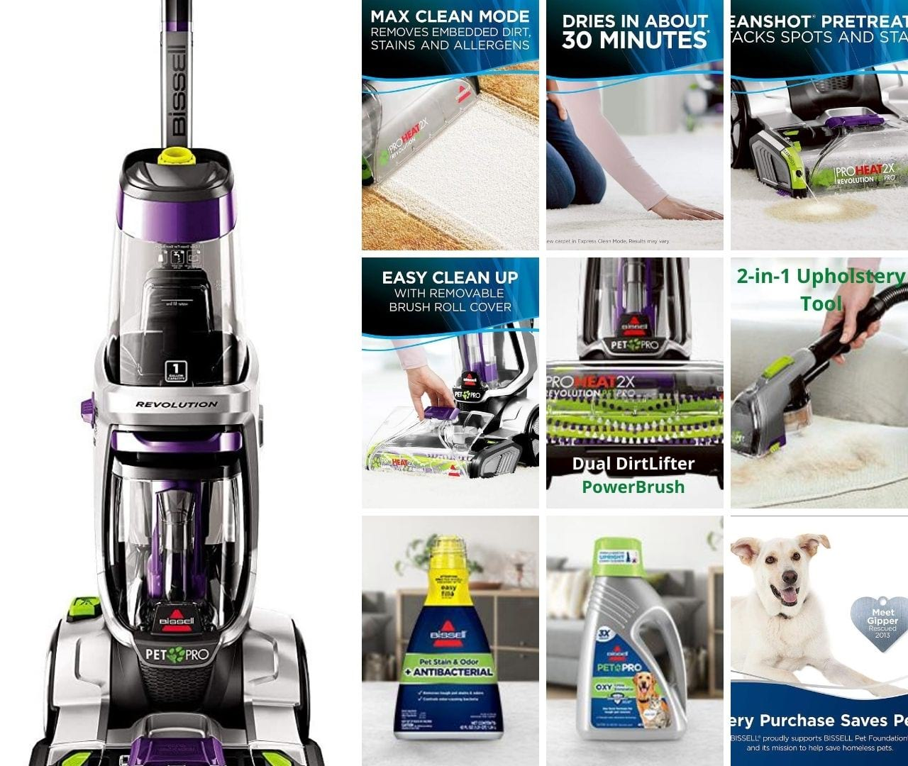 ProHeat carpet cleaner features