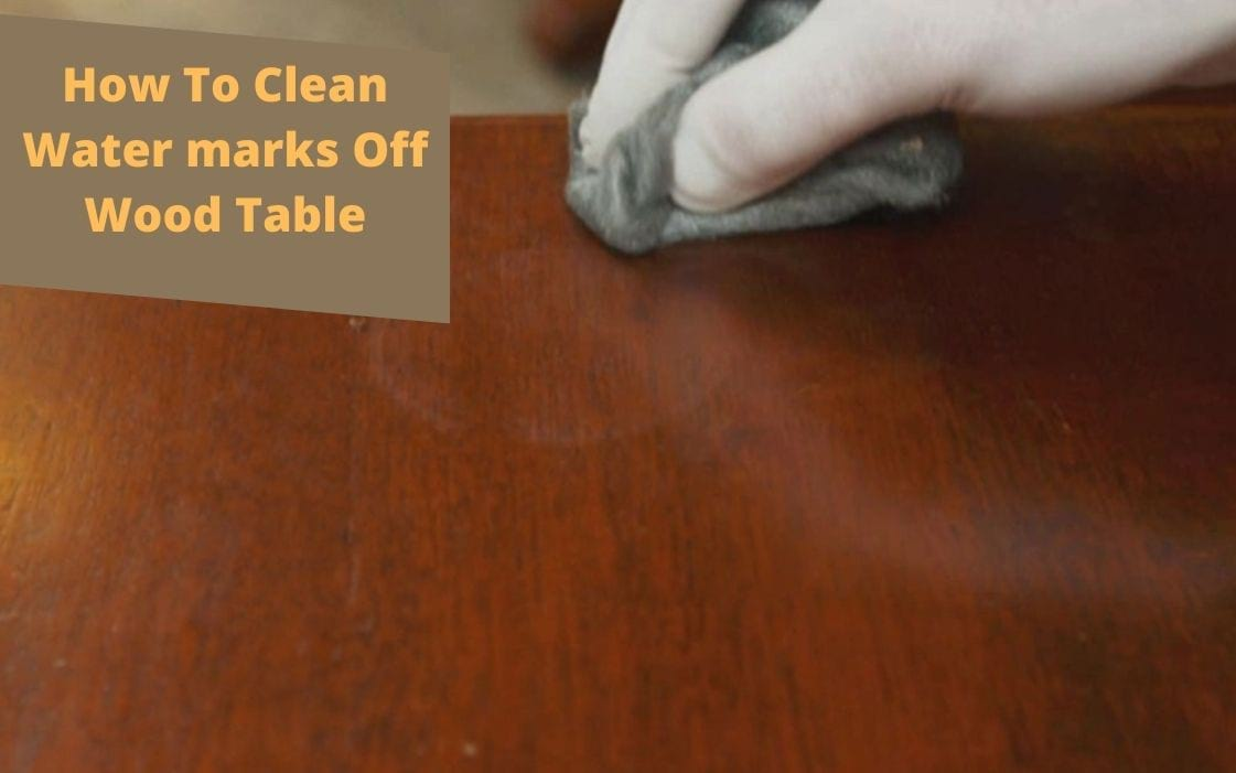 water marks wood table