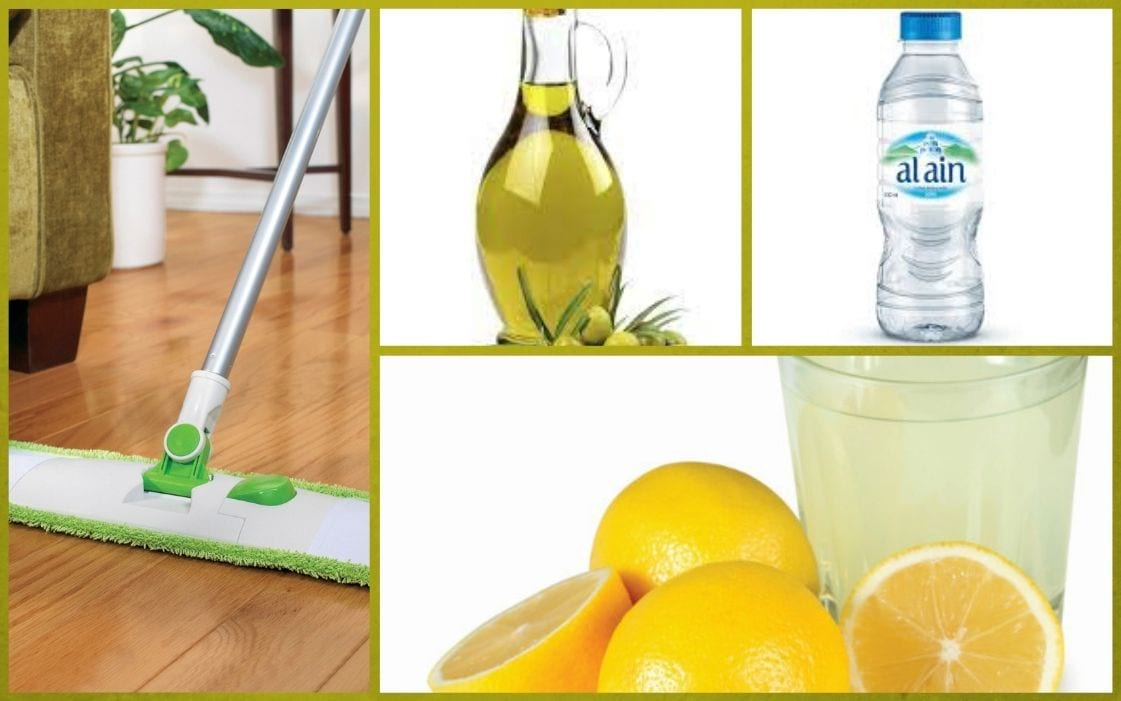 Floor mopping with lemon juice
